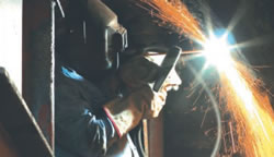 photograph of welder