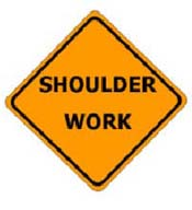 Shoulder Work Sign