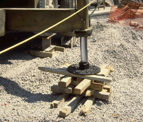photo of blocking or cribbing