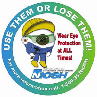 Wear Eye Protection at ALL Times! logo