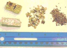 Different sizes of vermiculite particles