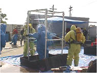 photo of decontamination station