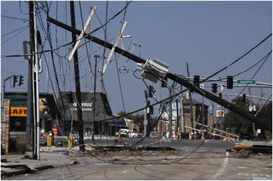 photo of downed powerlines
