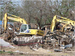Photo of backhoes