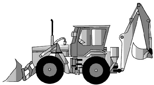 Figure 93.10 Example of an articulated steer backhoe loader