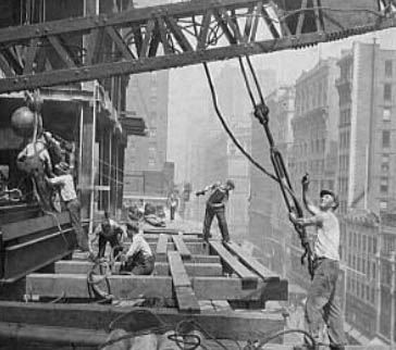 old photo of construction