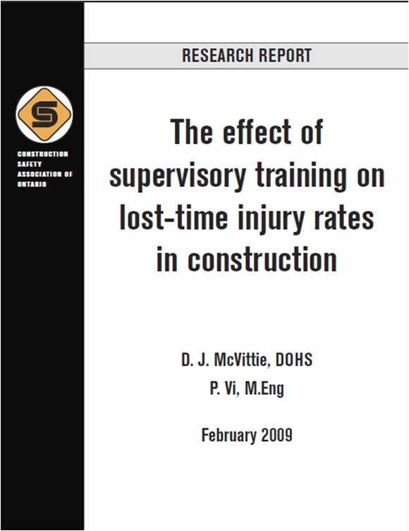 The effect of supervisory training on lost-time injury rates in construction