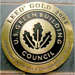 leadership in energy and environmental design award ot U.S. Green Building Council