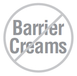 Don't use barrier creams with epoxies