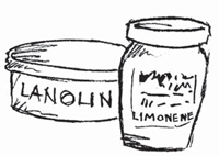 Do not use lanolin, petroleum jelly, or