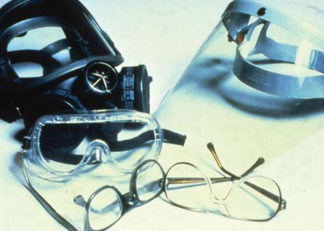 Chemical goggles, with side shields to