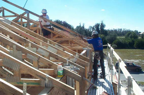 Elcosh osha guidance document fall protection in for Roof trusses installation