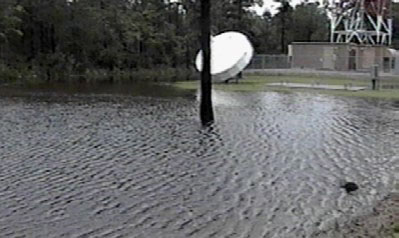 Photo showing floodwaters