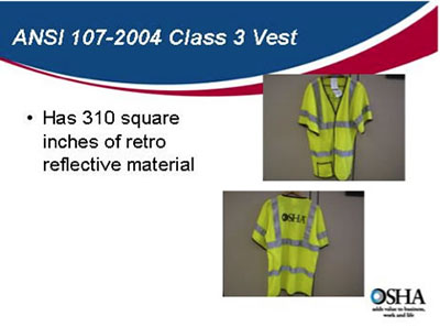 Front and back images of night high-visibility vest