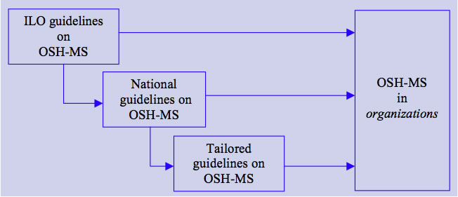 Elements of the national framework for OSH management systems