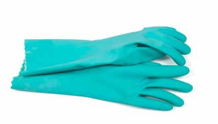image of unsupported polymer gloves
