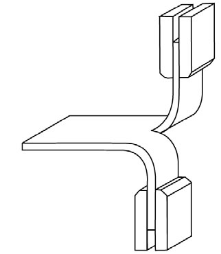 illustration of tearing test configuration
