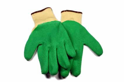 photo of coated gloves