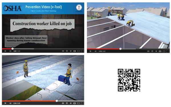 screen shots of prevention videos on YouTube
