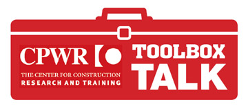 CPWR Toolbox Talk logo
