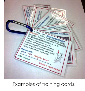 Image of training cards on a clip