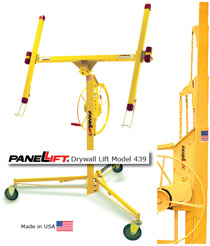 Image of drywall lift device.