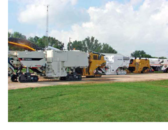 Photo of asohalt milling pavement machines
