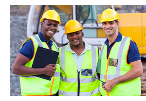 photo of 3 construction workers