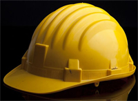 picture of a yellow hard hat.