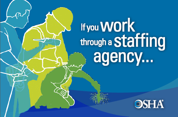 "English graphic- ""If you work through a staffing agency..."""