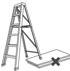 Illustration of a ladder that is NOT fully extended