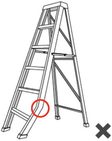 Illustration of a bent ladder.