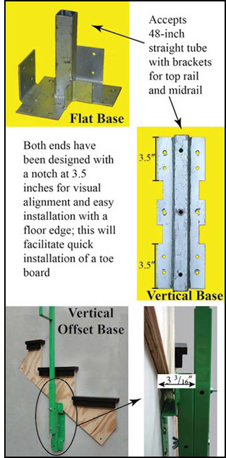 Figure 2. Additional guardrail bases (flat,