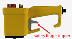 Drawing of the safety trigger option on the control.