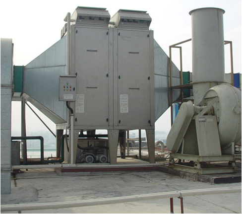 This is a picture of a large precipitator