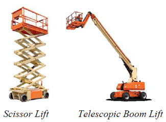 Scissor Lift, Telescopic Boom Lift