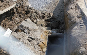 This is a photo of the collapsed trench.