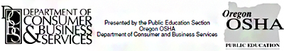 Oregon OSHA Public Education logo and department of consumer and business services