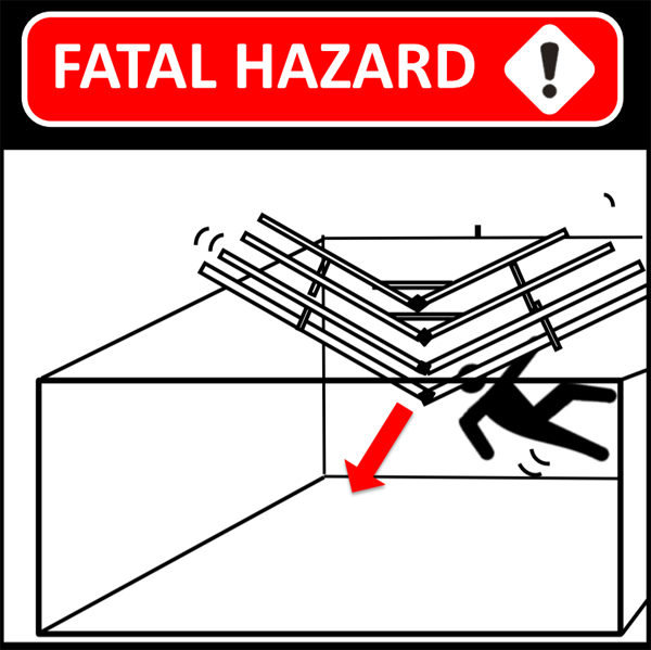 FataL HAZARD UNDER COLLAPSED ROOF