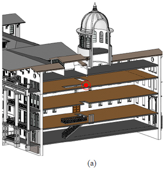schematic of the building