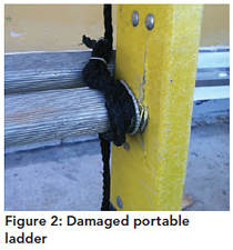 Figure 2: Damaged portable ladder