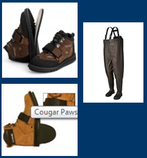 footwear- high waders and boots