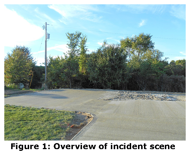 Figure 1: Overview of incident scene