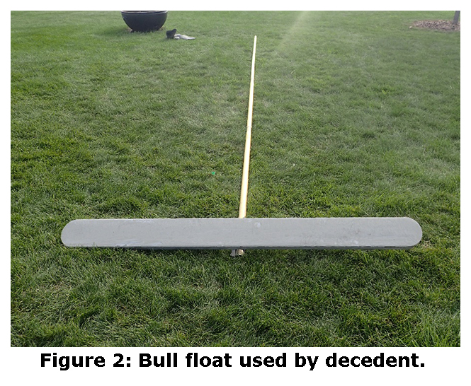 Figure 2: Bull float used by decedent