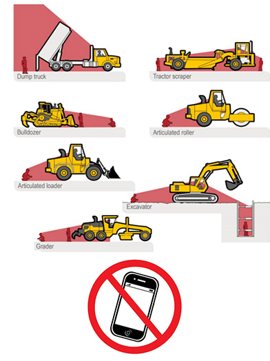 graphic of various pieces of construction heavy equipment