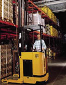 Photo of man on forklift