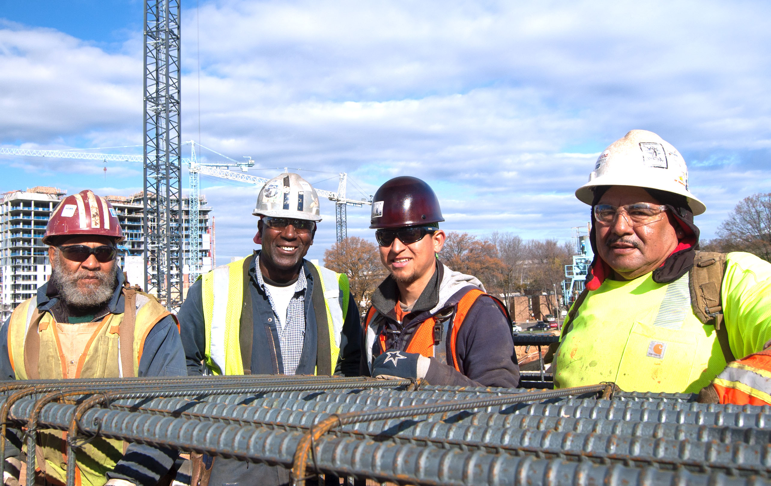 Diversity in construction - close up of crew